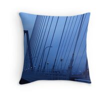 New Cooper River Bridge No. 2 Throw Pillow