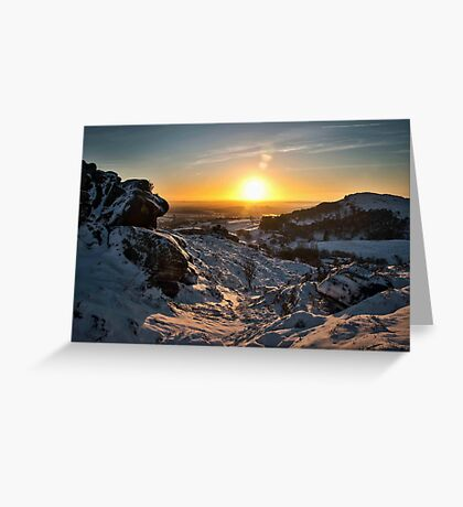 Snow at the Roaches Greeting Card