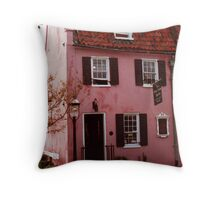 Pink House Gallery Throw Pillow