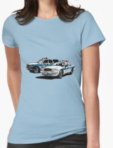 American Police Cars Womens Fitted T-Shirt