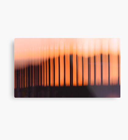 Light Patterns Abstract Photography Metal Print