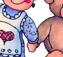 DOLL & BEAR by SHARON SHARPE Sticker