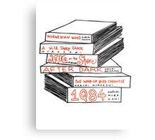 Haruki Murakami Book Stack Metal Print