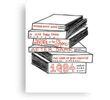 Haruki Murakami Book Stack Canvas Print