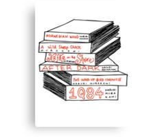 Haruki Murakami Book Stack Canvas Print