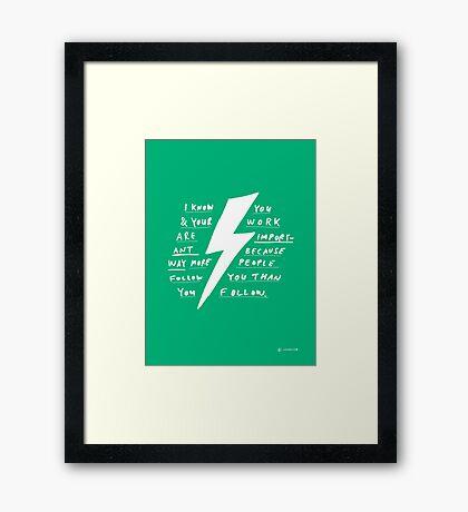 IMPORTANT Framed Print