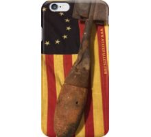 Old Flag and Bomb - State Pallets iPhone Case/Skin