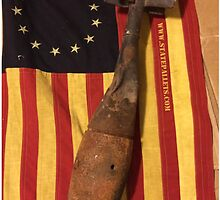 Old Flag and Bomb - State Pallets by Statepallets
