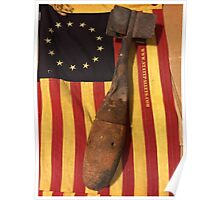 Old Flag and Bomb - State Pallets Poster