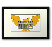SHOW ME YOUR MOVES! - Captain Falcon Framed Print