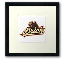 Brickwear Framed Print