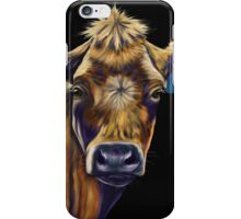 Lucky Number Seven Cow Painting iPhone Case/Skin