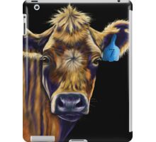 Lucky Number Seven Cow Painting iPad Case/Skin
