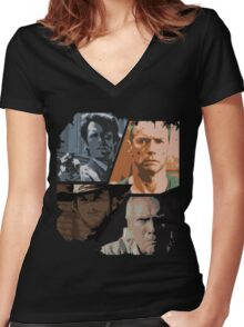 best of Clint Eastwood Women's Fitted V-Neck T-Shirt