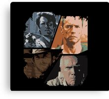 best of Clint Eastwood Canvas Print