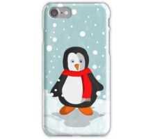 Penguin in the snow iPhone Case/Skin