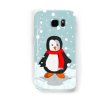 Penguin in the snow Samsung Galaxy Case/Skin