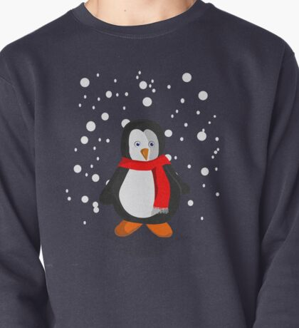 Penguin in the snow Pullover