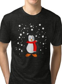 Penguin in the snow Tri-blend T-Shirt