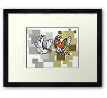 Lugia & Ho-Oh Framed Print