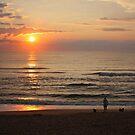 Beach Stroll at Sunrise by Jack Ryan