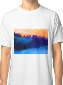 Ice, Mauve and Marmalade Abstract Landscape Classic T-Shirt