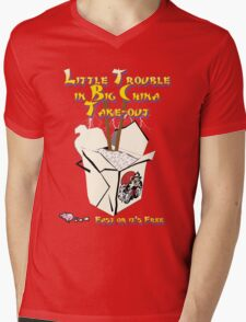 Little Trouble Mens V-Neck T-Shirt