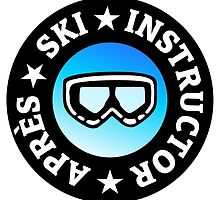 Après-Ski Instructor with Goggles by theshirtshops