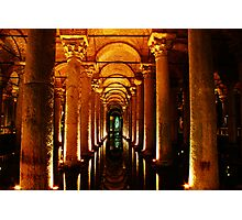 Basilica Cistern, Istanbul Photographic Print