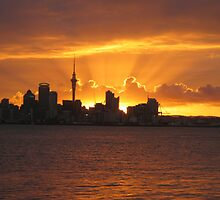 Auckland Sunset by ladesigns