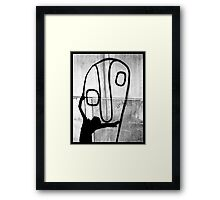 Big face hug Framed Print