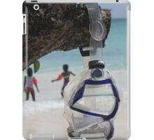 goggles on beach iPad Case/Skin