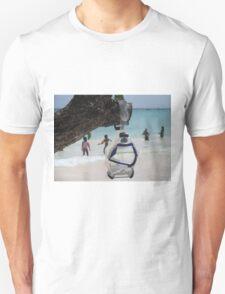 goggles on beach Unisex T-Shirt
