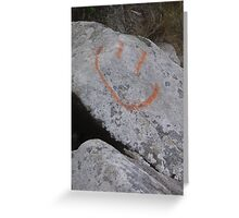 happy rock Greeting Card