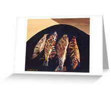 Fish BBQ Greeting Card