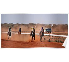 Coming To The finish At Mt Magnet Poster