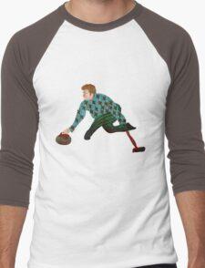 Curling Men's Baseball ¾ T-Shirt