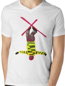 Freestyle skier Mens V-Neck T-Shirt