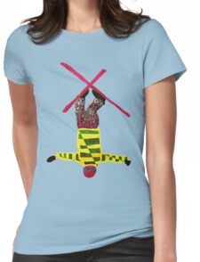 Freestyle skier Womens Fitted T-Shirt