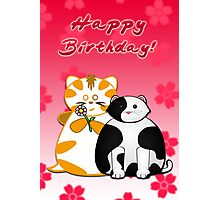 Frazzle and Basil Happy Birthday Card Photographic Print