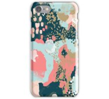 Eisley - Modern abstract painting in bright fun happy beachy colors for trendy girls college decor iPhone Case/Skin