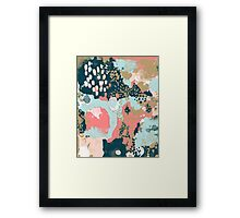 Eisley - Modern abstract painting in bright fun happy beachy colors for trendy girls college decor Framed Print