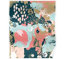 Eisley - Modern abstract painting in bright fun happy beachy colors for trendy girls college decor Poster