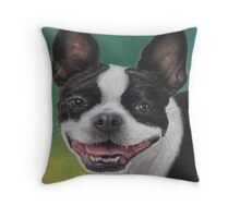 """Lady"" with a Big Smile Throw Pillow"