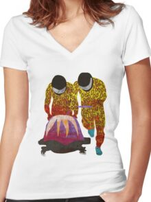Bobsled Women's Fitted V-Neck T-Shirt