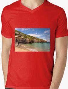 Rocky Cliff Face of Trevaunance Cove Mens V-Neck T-Shirt