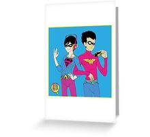 Robins (for blue) Greeting Card