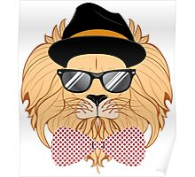 Lion Hipster 3 Poster