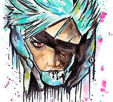 Metal Gear Solid Rising - RAIDEN - Grafitti art - T shirts + More Jonny2may by Jonny2may