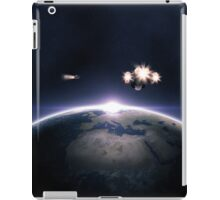 Earth planet and spaceships iPad Case/Skin